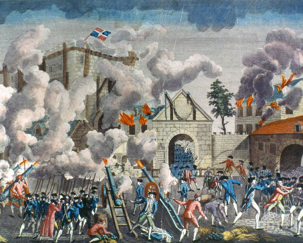 1789 Poster featuring the photograph Capture Of Bastille, 1789 by Granger