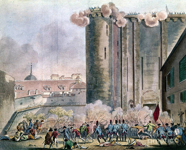 1789 Poster featuring the photograph Capture Of The Bastille by Granger
