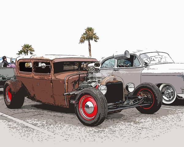 Model A Sedan Poster featuring the photograph Car Show Cool by Steve McKinzie