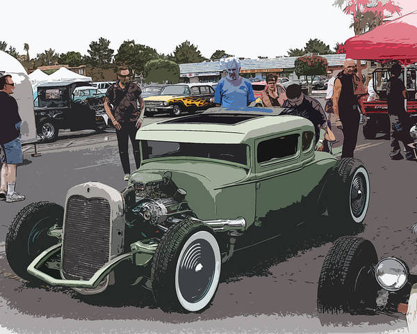 Hot Rod Coupe Poster featuring the photograph Car Show Coupe by Steve McKinzie