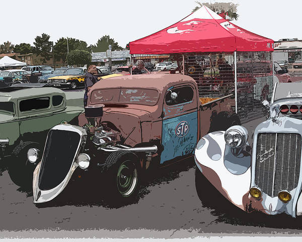 Chopped Poster featuring the photograph Car Show Hot Rods by Steve McKinzie