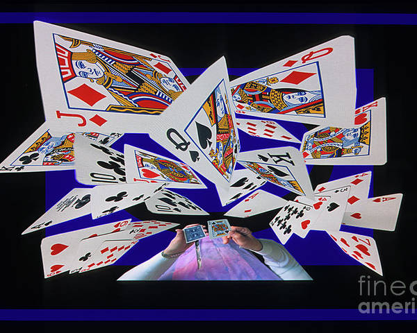 Cards Poster featuring the photograph Card Tricks by Bob Christopher