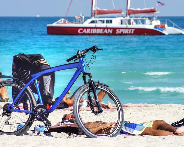 Beach Poster featuring the photograph Caribbean Spirit by Dieter Lesche