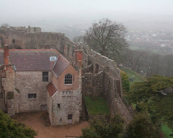 Castle Poster featuring the photograph Carisbrook Castle by Shirley Mitchell