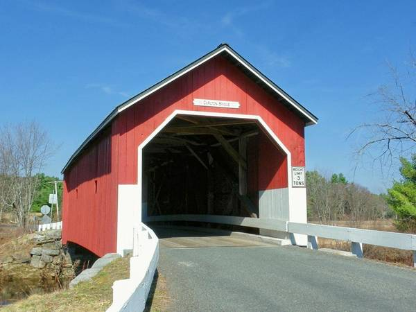 Nh Poster featuring the photograph Carlton Covered Bridge by Wayne Toutaint