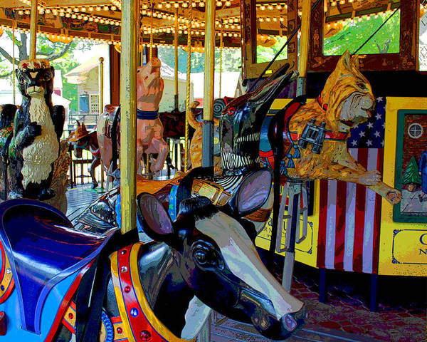 Carousel Poster featuring the photograph Carousel Fun by Bob Whitt