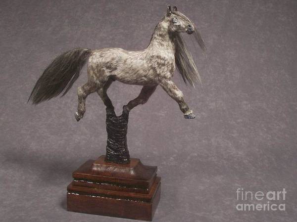 Equine Sculpture Poster featuring the mixed media Casanova by Kathy Holman