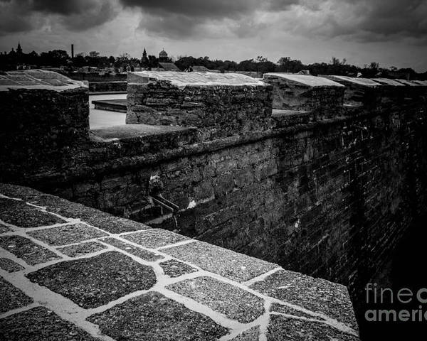 Castillo De San Marco Poster featuring the photograph Castillo De San Marco Walls by Ronnie G Smith