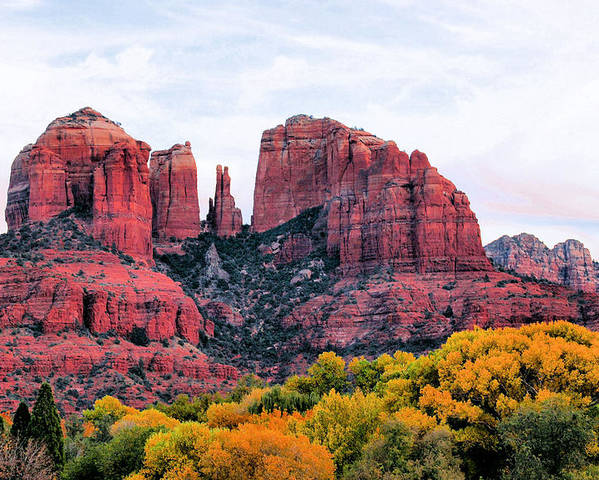 Cathedral Rock Poster featuring the photograph Cathedral Rock by Kristin Elmquist