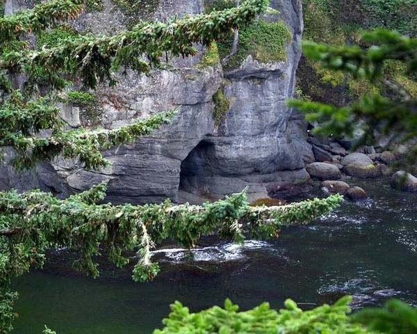 Beautiful Cape Flattery Poster featuring the photograph Cave Of The Bay by Christy Leigh
