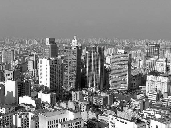 Horizontal Poster featuring the photograph Centro De Sao Paulo by Eli K Hayasaka