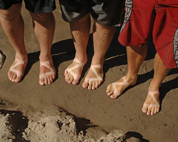 Foot Poster featuring the photograph Chaco Sandals by Kort Duce