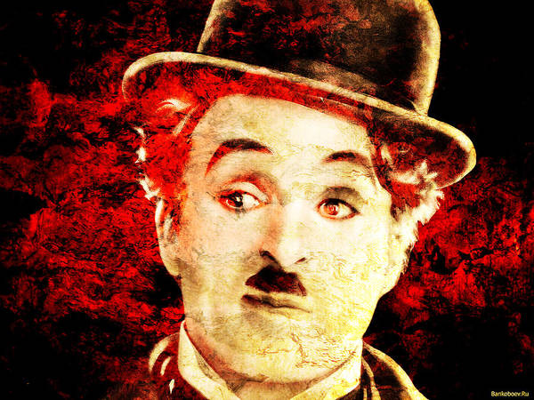 Charles Chaplin Poster featuring the photograph Charles Chaplin by J - O  N  E