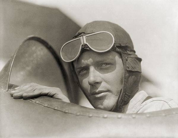 History Poster featuring the photograph Charles Lindbergh 1902-1974 Wearing by Everett