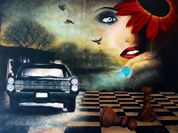 Realism Poster featuring the painting Checkmate by Andrea Banjac