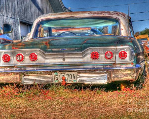 Chevy Poster featuring the photograph Chevy Blue by Brenda Giasson