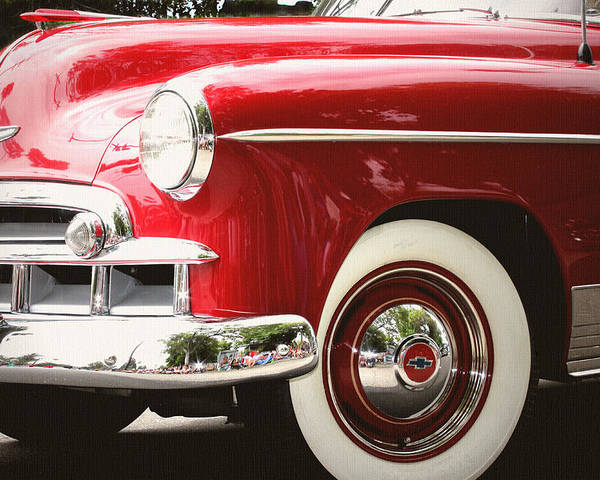 Chevrolet Deluxe Poster featuring the photograph Chevy De Luxe by Shandel Gauthier