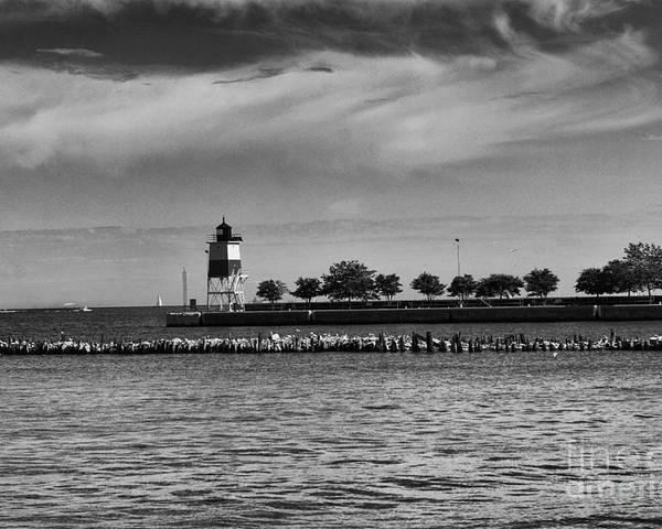Chicago Poster featuring the photograph Chicago Lighthouse by Leslie Leda