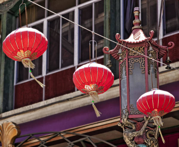 China Town Poster featuring the photograph China Town San Francisco by Kelley King