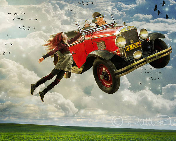 Chitty Chitty Bang Bang Poster featuring the digital art Chitty Chitty Oh No by Patricia Ridlon