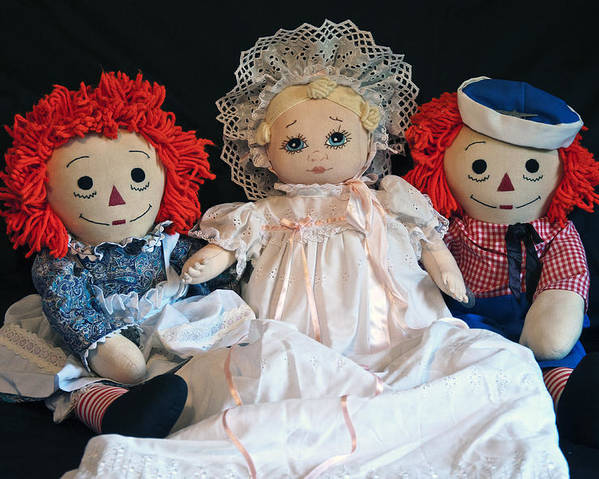 Dolls Poster featuring the photograph Christening Day by Donna Proctor