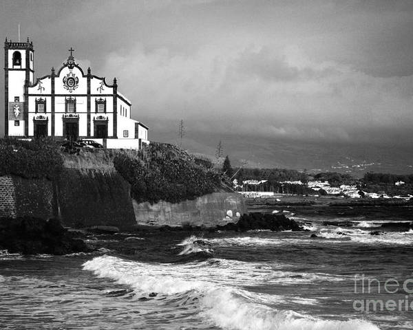 Inspirational Poster featuring the photograph Church By The Sea by Gaspar Avila