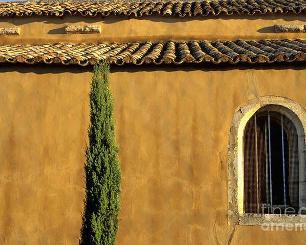 The Tourist Trade Poster featuring the photograph Church. Provence by Bernard Jaubert