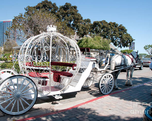 California Poster featuring the digital art Cinderella Carriage by Carol Ailles