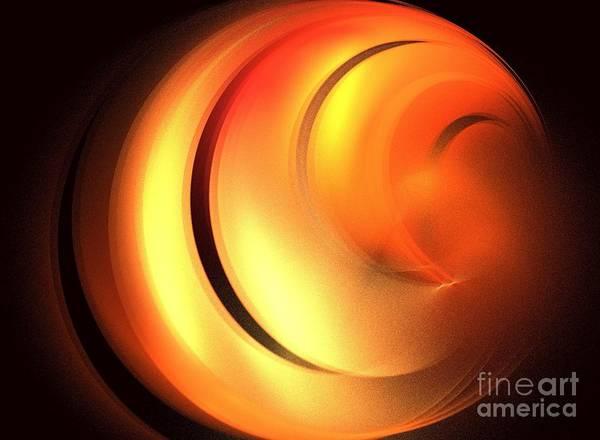 Apophysis Poster featuring the digital art Cinnamon Bun by Kim Sy Ok