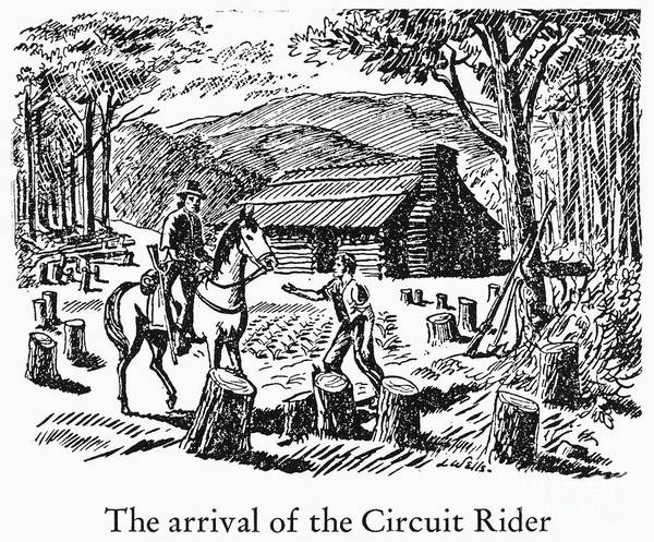 18th Century Poster featuring the photograph Circuit Rider by Granger