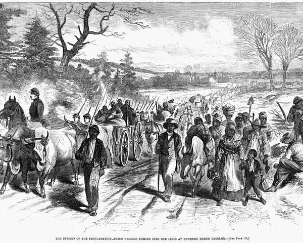 1863 Poster featuring the photograph Civil War: Freedmen, 1863 by Granger