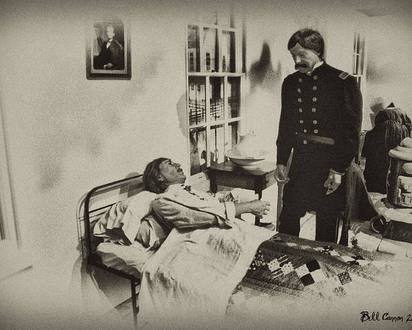 Civil War Poster featuring the photograph Civil War Hospital by Bill Cannon