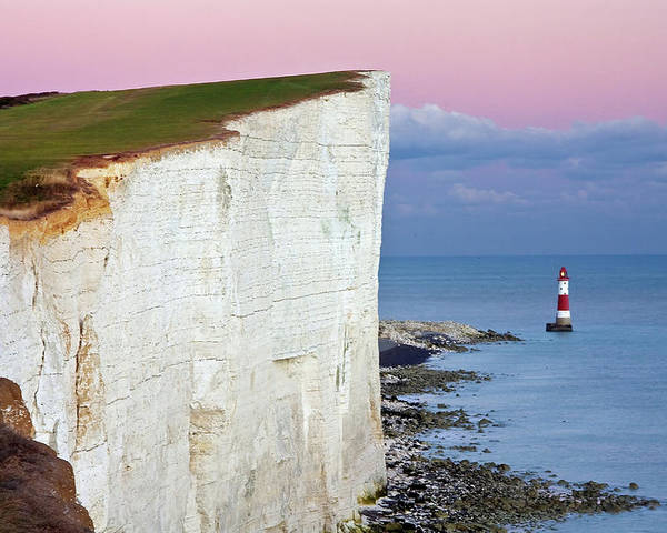 Horizontal Poster featuring the photograph Cliff by Paul Thompson