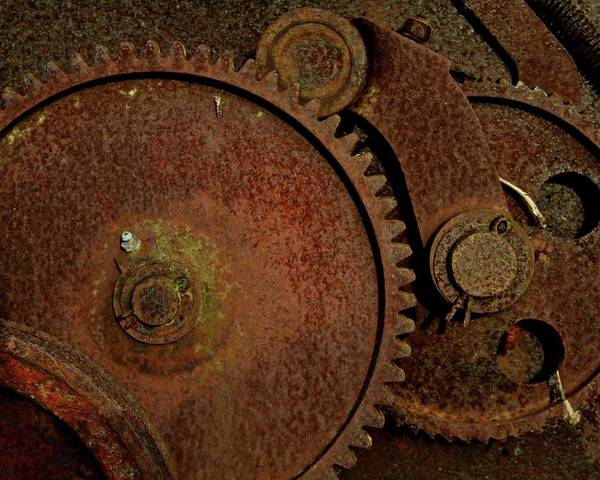 Rust Poster featuring the photograph Clockwork Rust by Odd Jeppesen