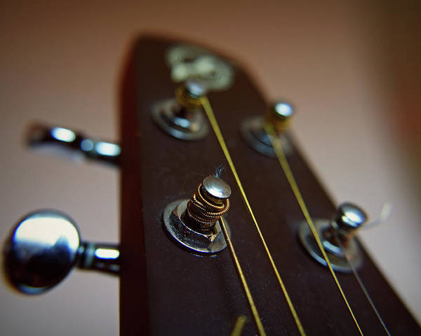 Horizontal Poster featuring the photograph Close-up Of Guitar by Image by Maistora (Vladimir Dimitroff)