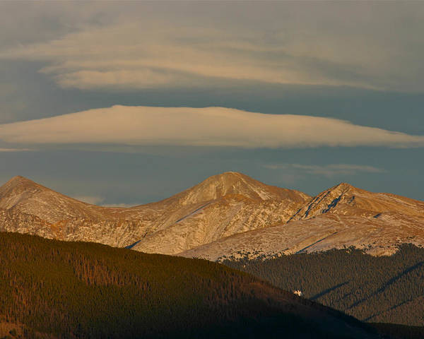 Colorado Poster featuring the photograph Cloud Cap by Bob Berwyn