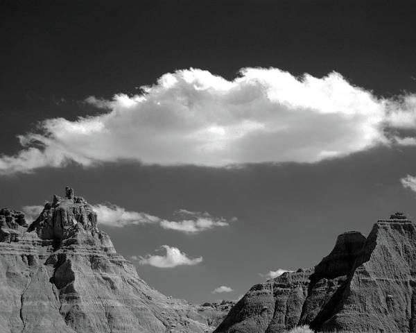 Horizontal Poster featuring the photograph Cloud Over Mountain Range by Hiro Oshima - www.zibili.com