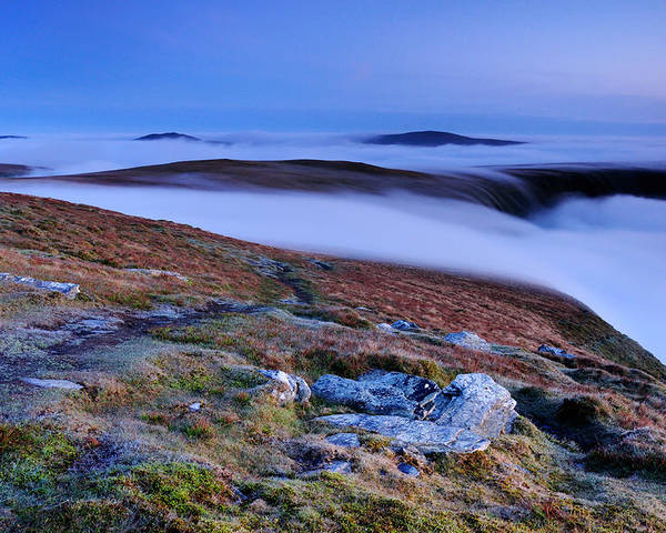 English Poster featuring the photograph Cloud Waterfalls Bannerdale Crags by Stewart Smith