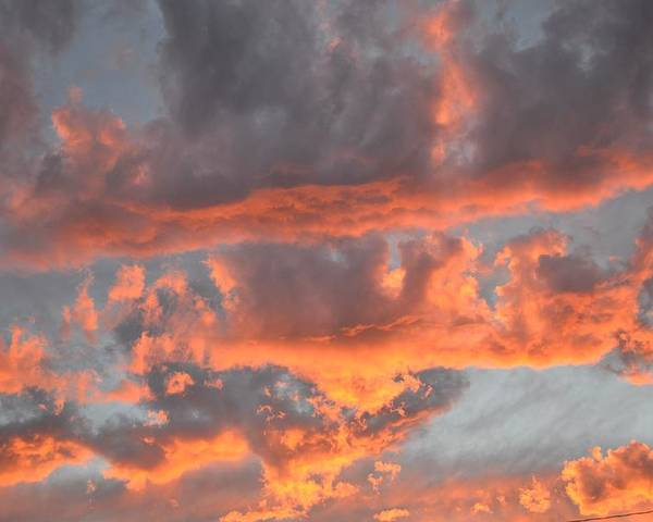 Sunset Poster featuring the photograph Clouds On Fire by Kevin Bone