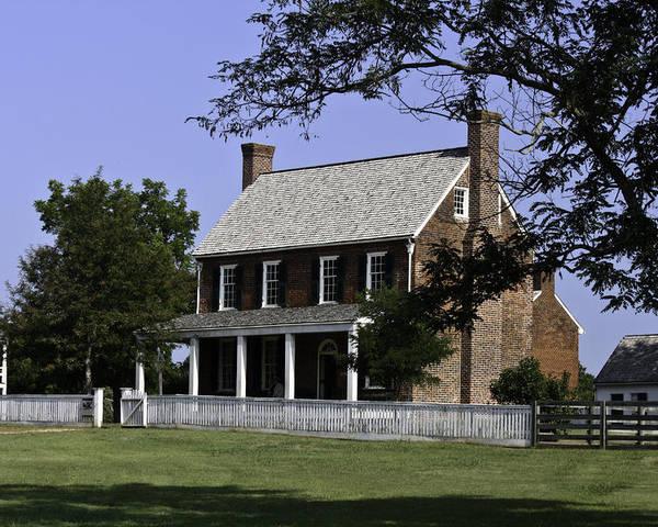 Appomattox Poster featuring the photograph Clover Hill Tavern Appomattox Virginia by Teresa Mucha