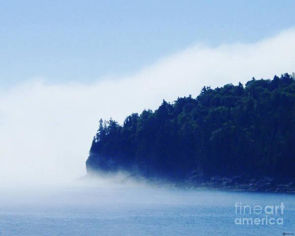 Fog Poster featuring the photograph Coastal Morning Fog by Lizi Beard-Ward