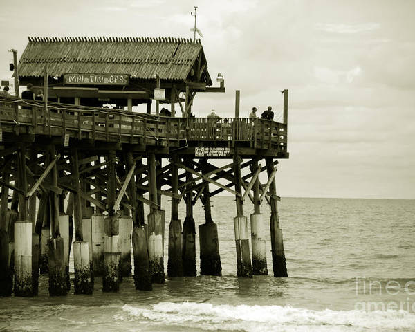 Pier Poster featuring the photograph Cocoa Beach Fl II by Susanne Van Hulst