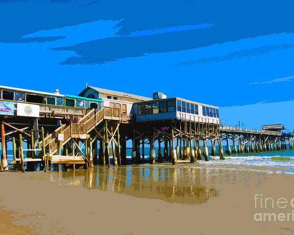 Cocoa Beach Pier >> Cocoa Beach Pier Poster