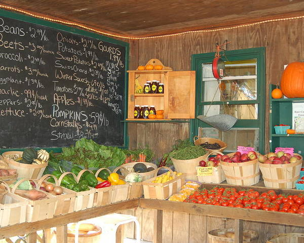 Farm Stand Poster featuring the photograph Colby Farm Stand Produce by Kristine Patti