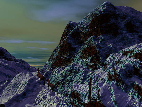 Nature Poster featuring the digital art Cold Mountain by Christopher Lynch