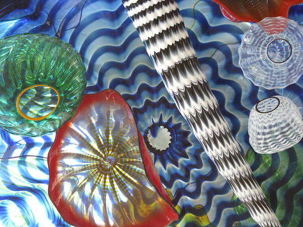Glass Art Poster featuring the photograph Colored Sea Things by Monica Cranswick