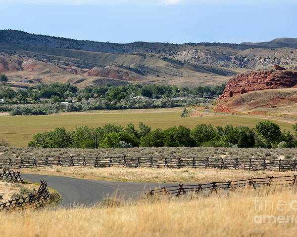 Wyoming Poster featuring the photograph Colorful Hills Of Wyoming by Carol Groenen