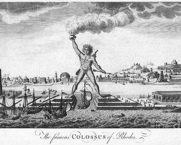 18th Century Poster featuring the photograph Colossus Of Rhodes by Granger