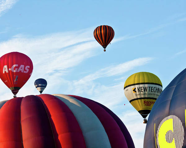 Balloons Poster featuring the photograph Coming Through by Brian Roscorla