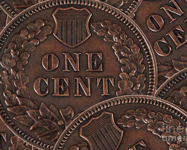 Coins Poster featuring the photograph Common Cents by Dan Holm